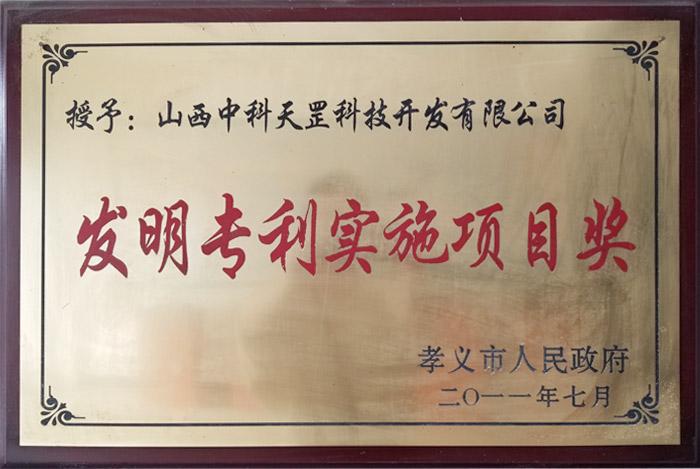 发明专利实施技术奖